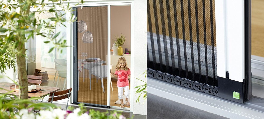 Bevorzugt Insektenschutz-Plissee für Türen | Swiss-Insektenschutz.ch OI66